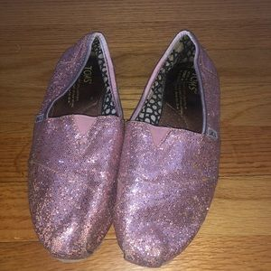 TOMS- pink and sparkly